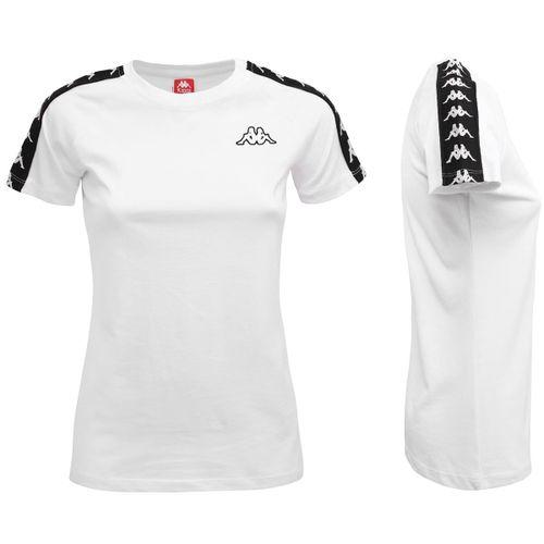 Camiseta-Mujer-222-Banda-Woen-Top-Kappa-Blanco
