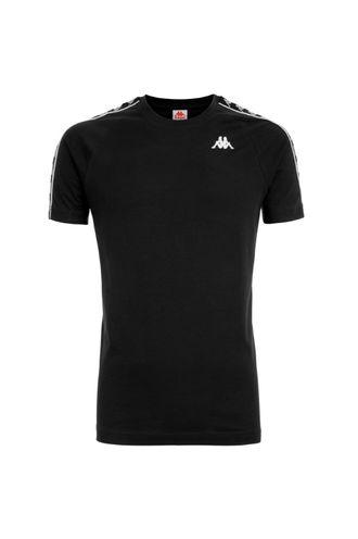 Camiseta-para-Hombre-222-Banda-Coen-Slim-Kappa-Negro