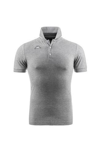 Camiseta-Polo-para-Hombre-Logo-Sharas-Mss-Kappa-Gris
