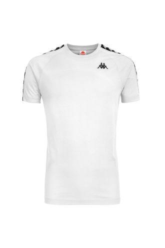 Camiseta-para-Hombre-222-Banda-Coen-Slim-Kappa-Blanco