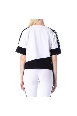 Camiseta-Mujer-222-Banda-Balimnos-Kappa-Blanco
