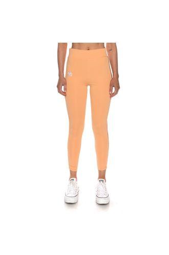 Leggings-de-Mujer-222-Banda-Bartes-Kappa-Naranja