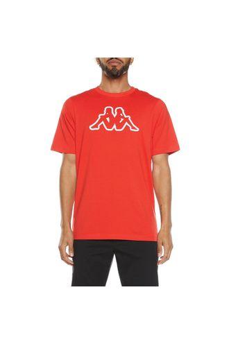 Camiseta-para-Hombre-Logo-Cromok-Kappa-Rojo