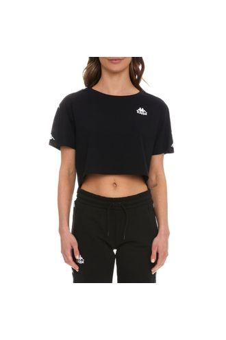 Camiseta-Mujer-222-Banda-Baua-Kappa-Negro