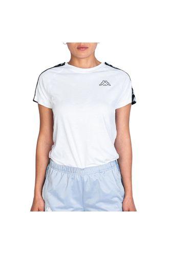 camiseta-mujer-222-banda-apan-slim-kappa-blanco
