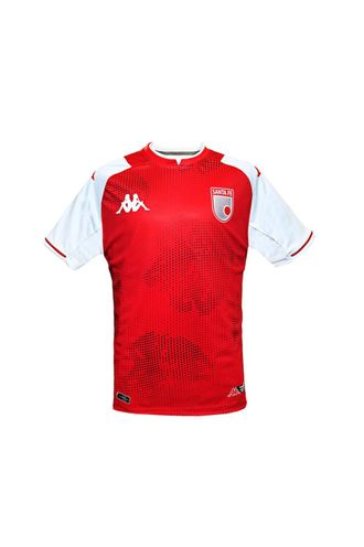 Camiseta-Kombat-Santa-Fe-Roja-Local-Niños-Kappa-YS