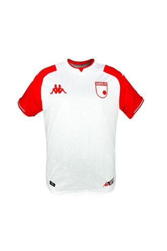 Camiseta-Kombat-Santa-Fe-Blanca-Visitante-Niños-Kappa-YL